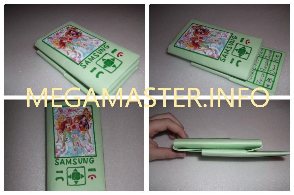 Телефон слайдер из бумаги