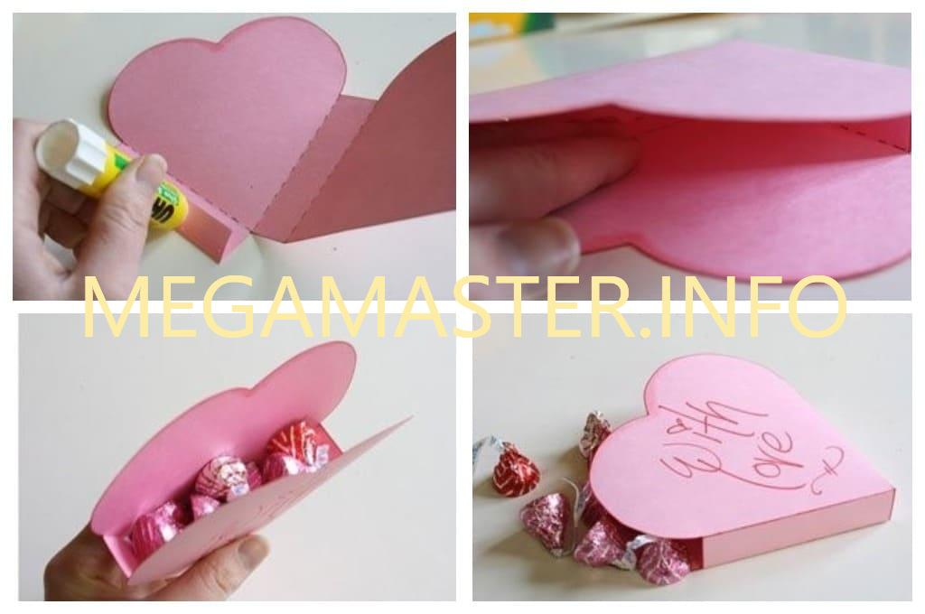 Второй вариант коробки сердечка