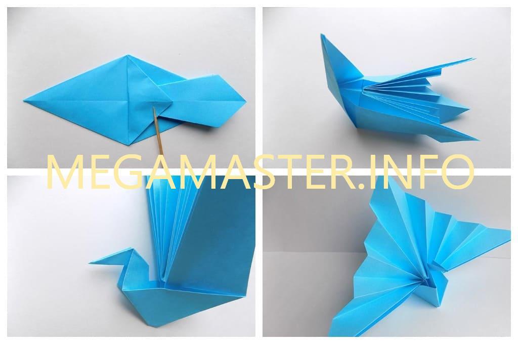 Журавль с волнистыми крыльями (Шаг 5)