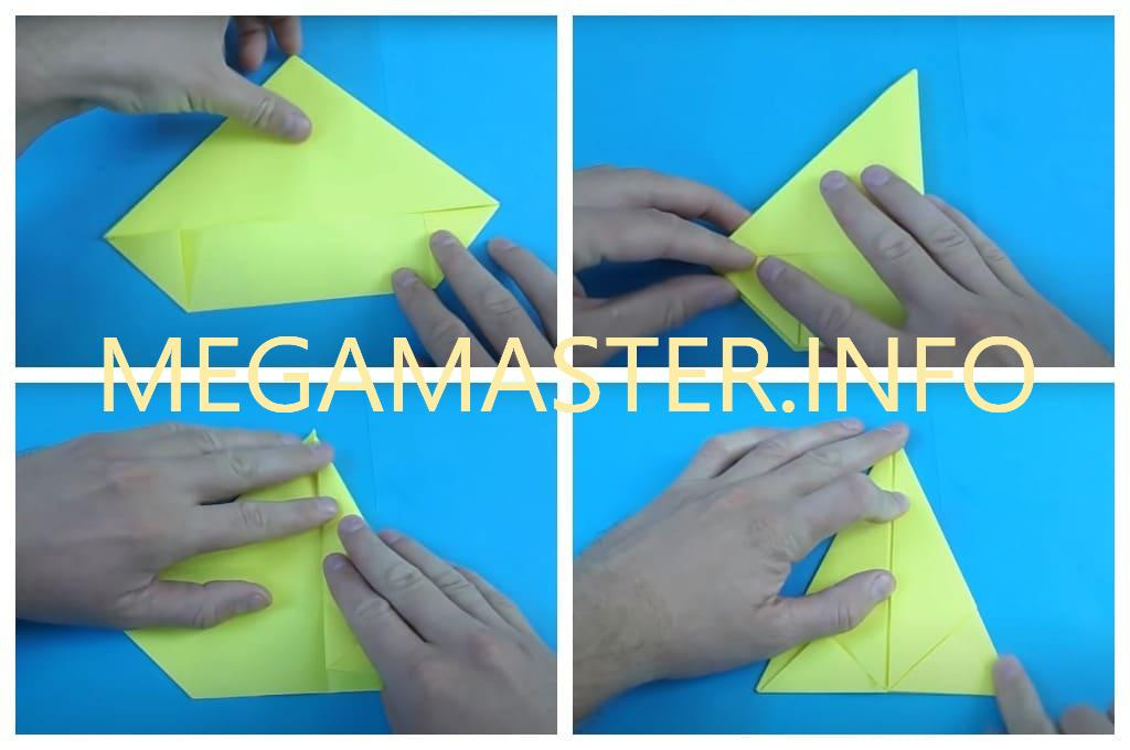 Катер из бумаги (Шаг 3)