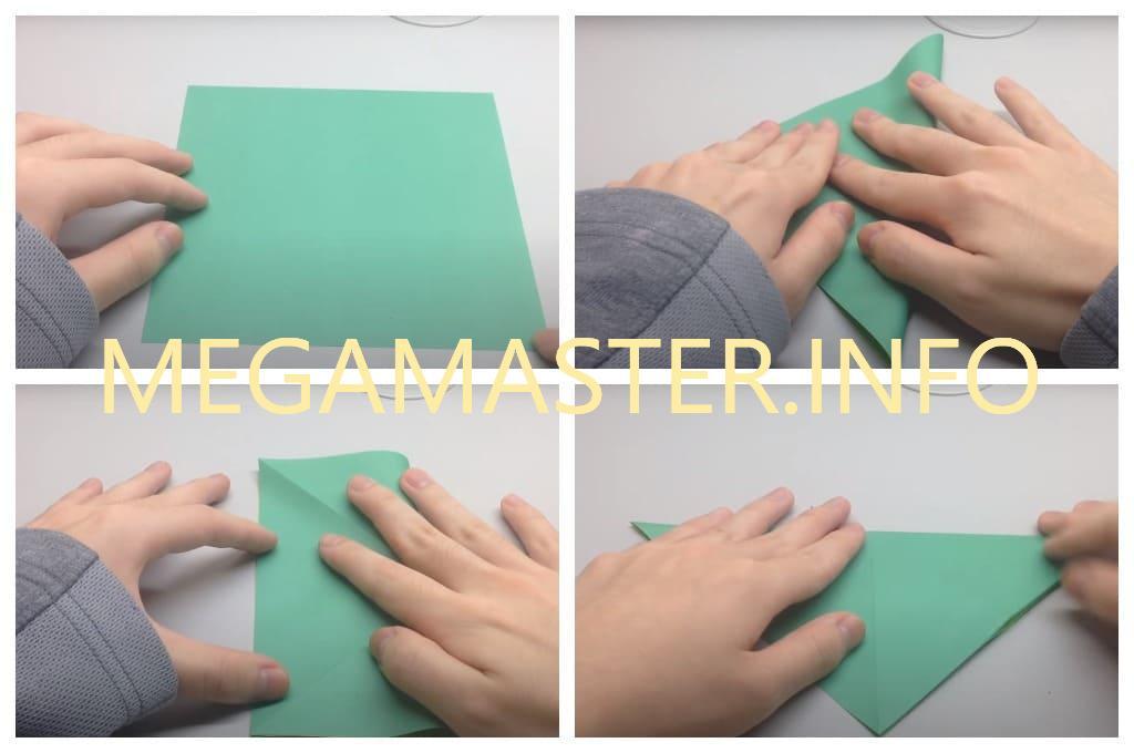 Оригами черепаха (Шаг 1)