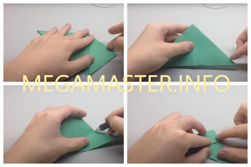 Оригами черепаха (Шаг 2)