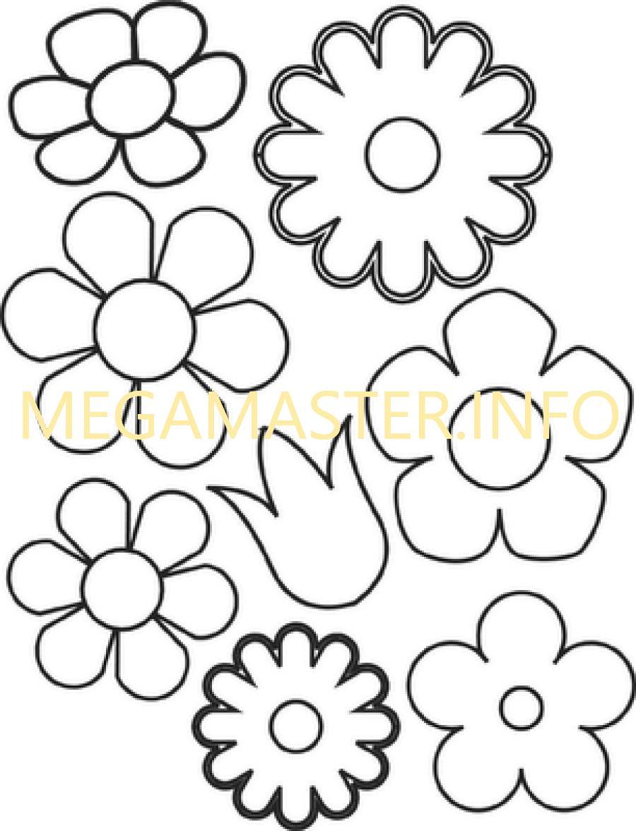 Шаблон цветочка для открытки