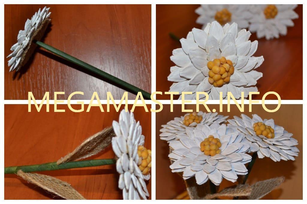 Цветы из природного материала (Шаг 3)