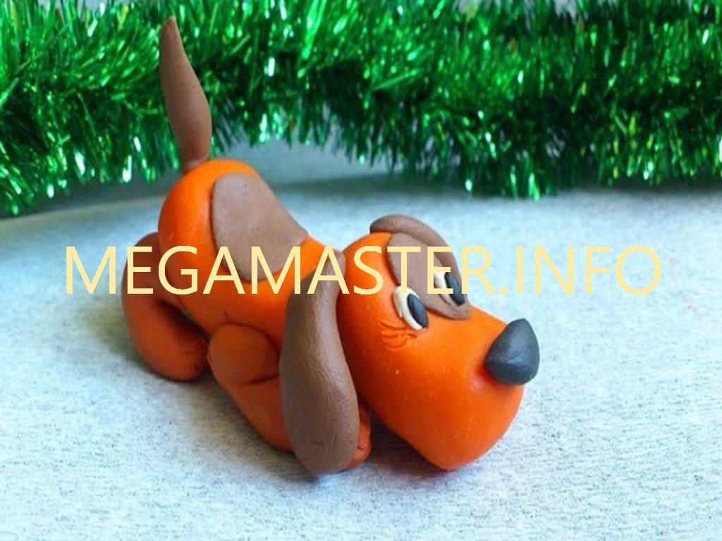 Картинка щенка для детей лепка