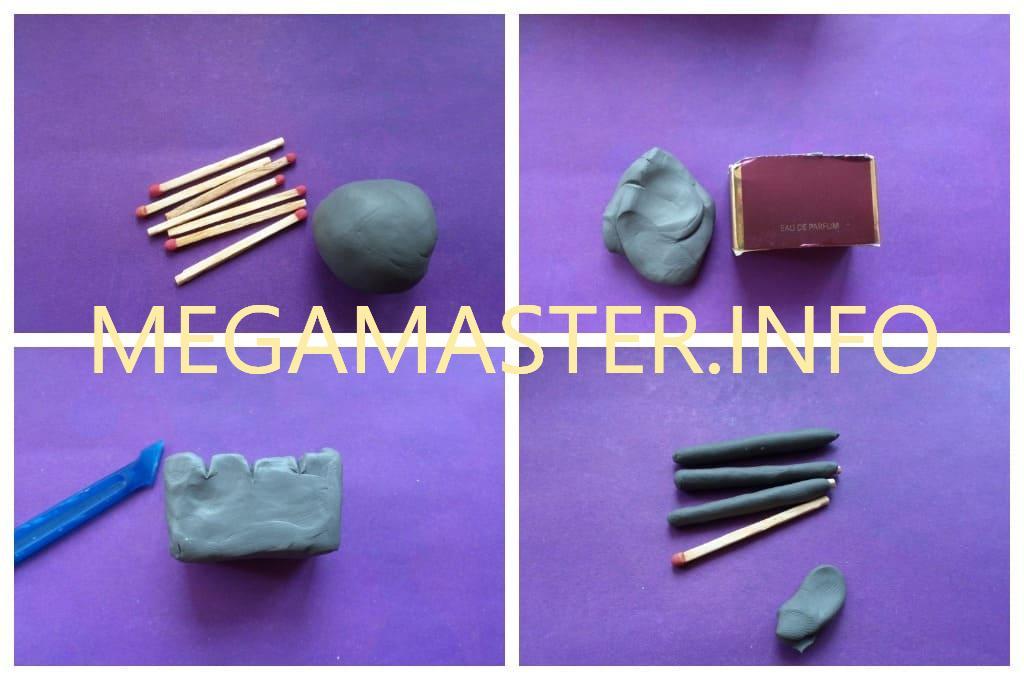 Пластилиновое мясо на мангале (Шаг 1)