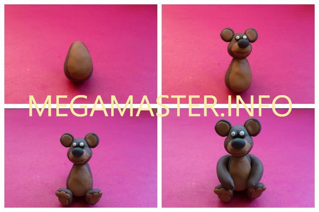 Пластилиновый мишка (Шаг 2)