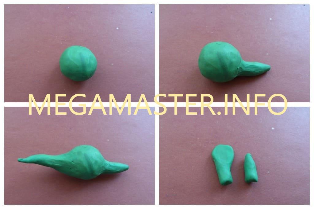 Пластилиновый стегозавр (Шаг 1)