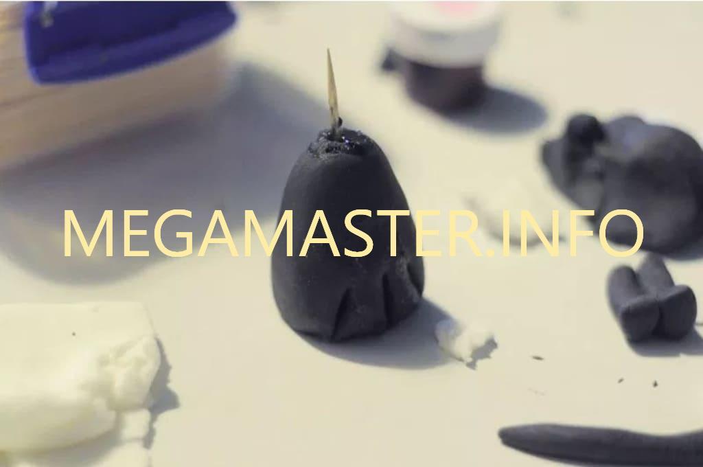 Простая сидячая кошечка из пластилина (Шаг 1)