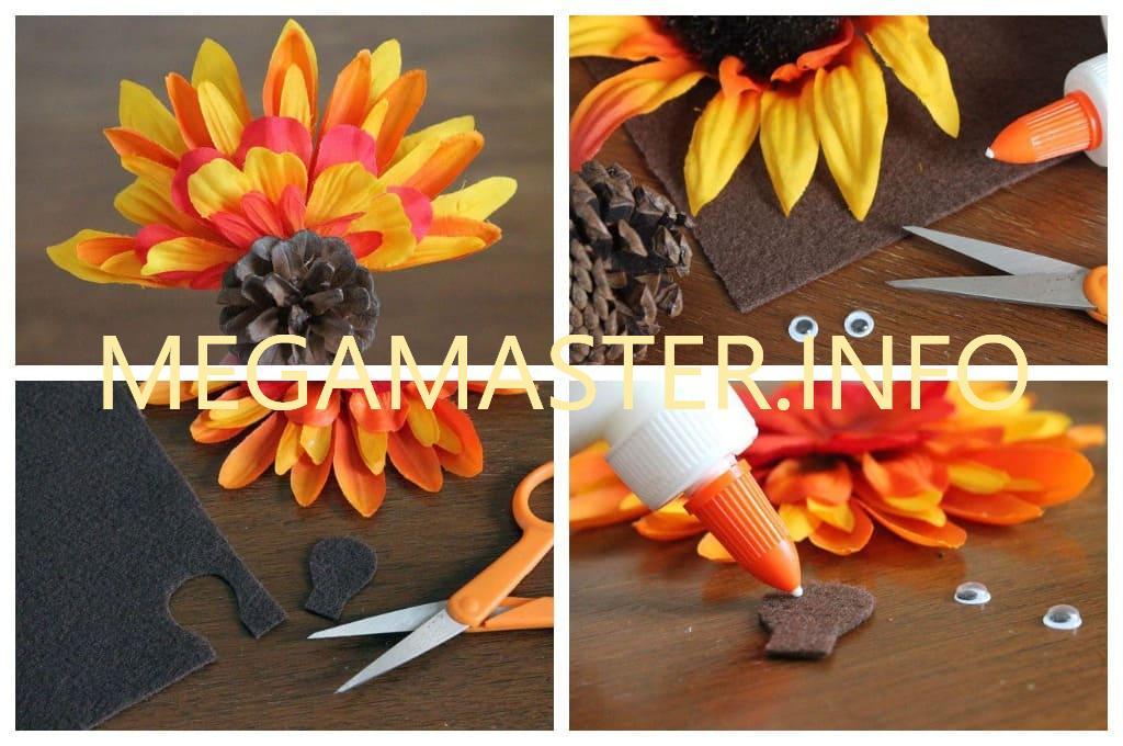 Птица из цветов и перьев (Шаг 2)