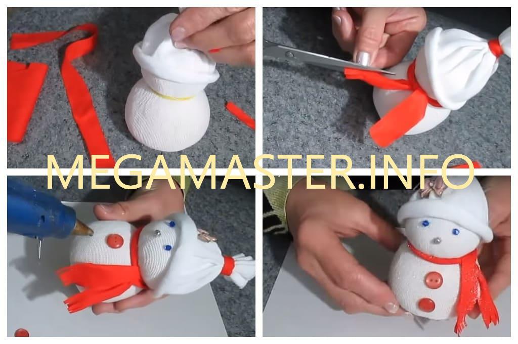 Снеговик из носка (Шаг 3)