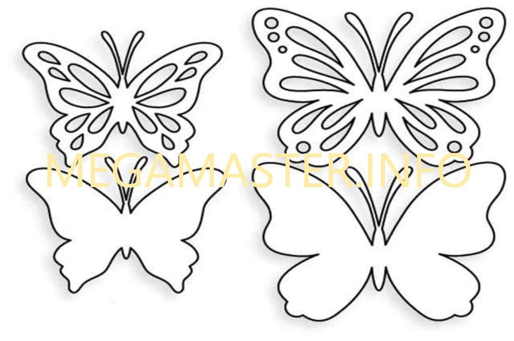 Трафарет для бабочки (2)