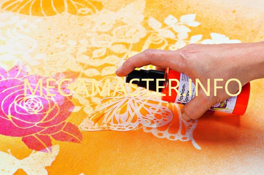 Использование трафаретов на ткани