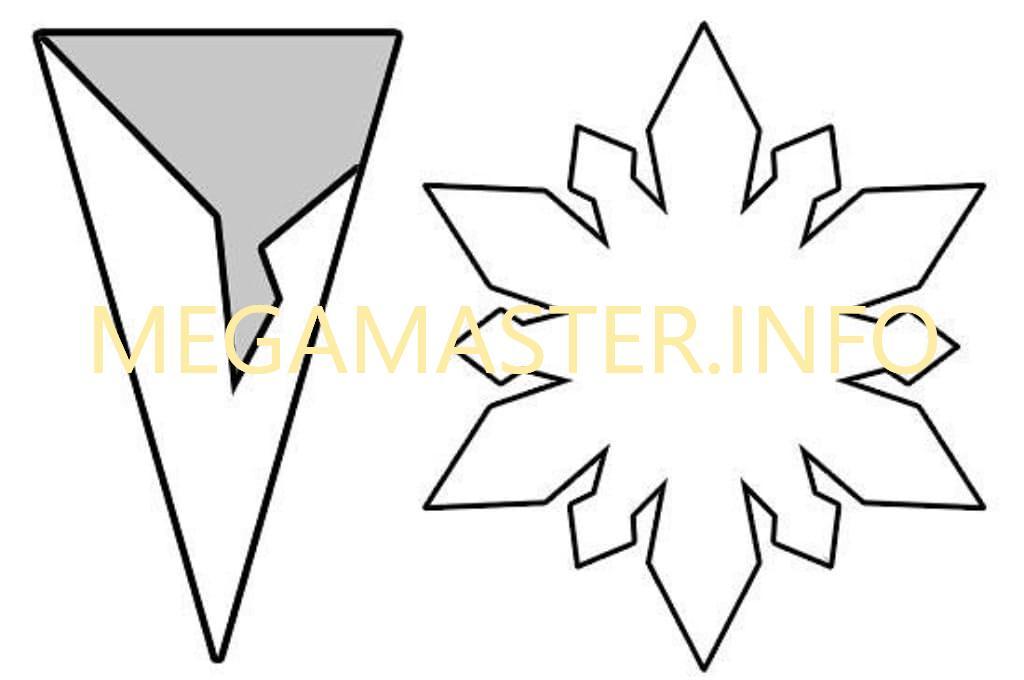 Простые шаблоны снежинок (2)