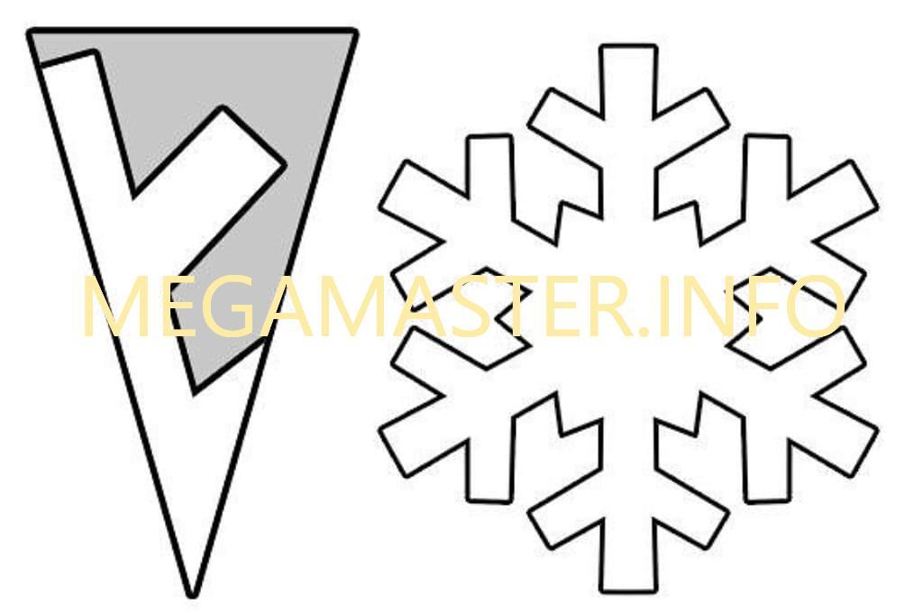Простые шаблоны снежинок (3)