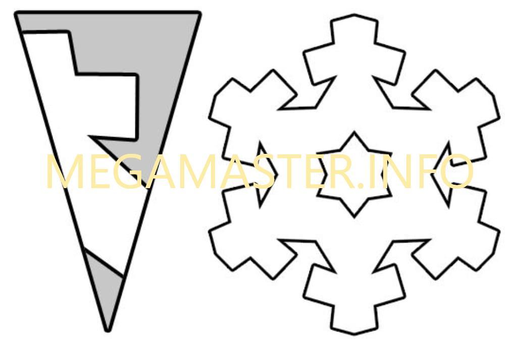 Простые шаблоны снежинок