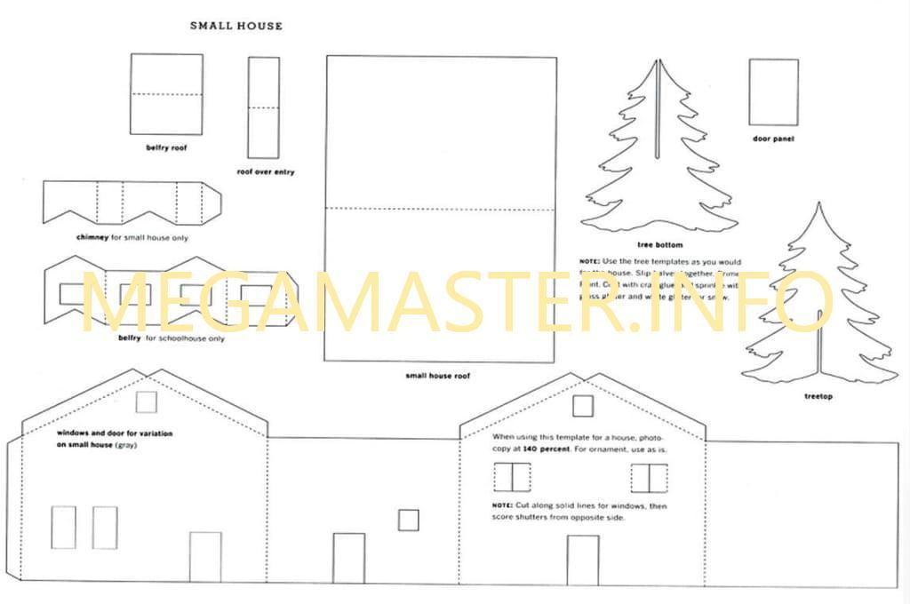Схема новогоднего дома