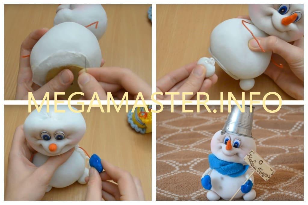 Снеговик из чулка (Шаг 5)