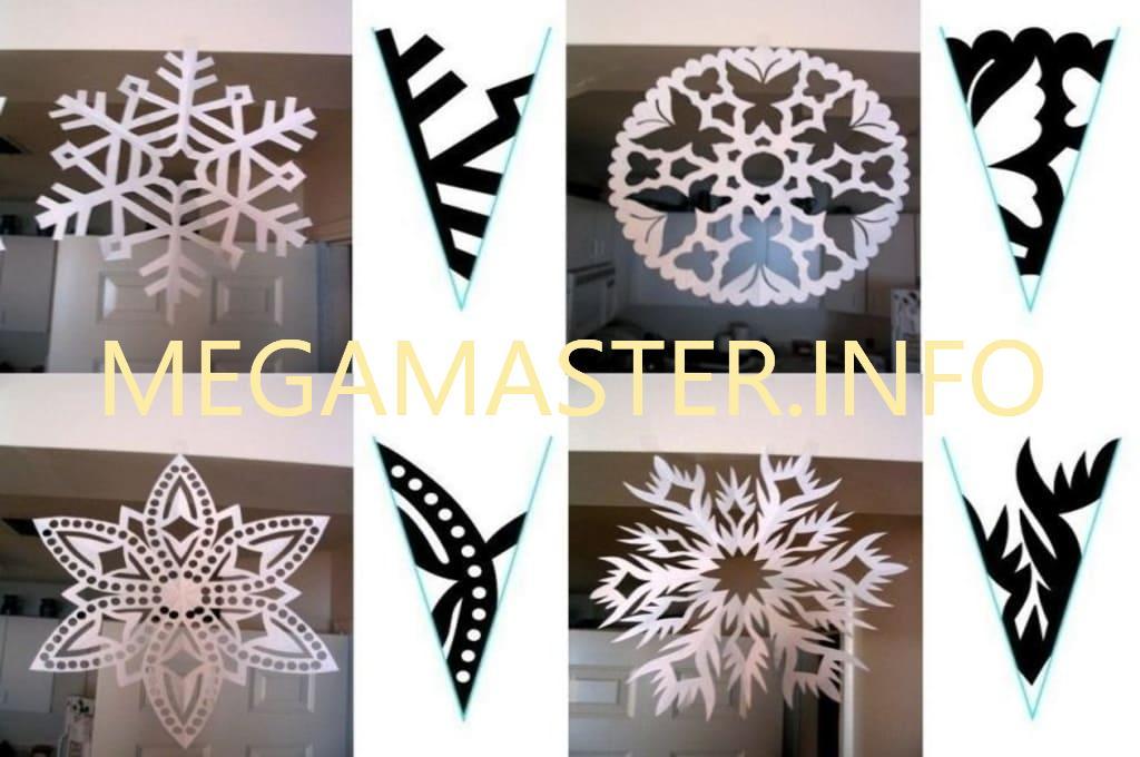 Снежинки для окон с шаблонами