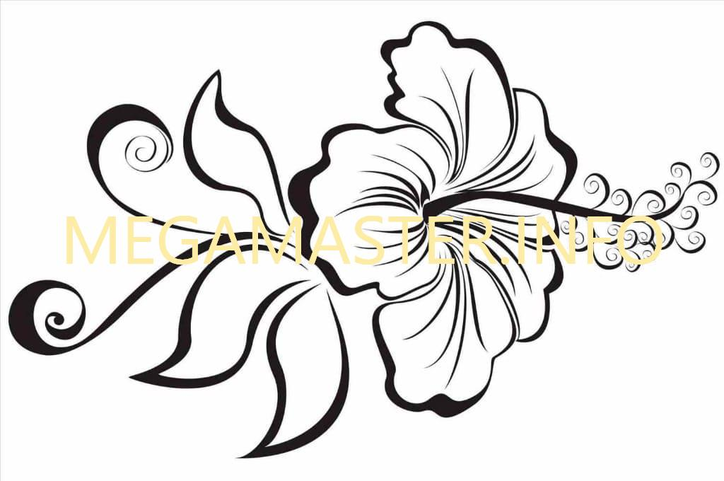 Трафарет гавайского цветка