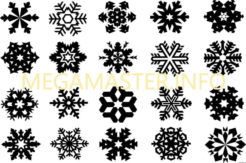 Трафареты для маленьких снежинок