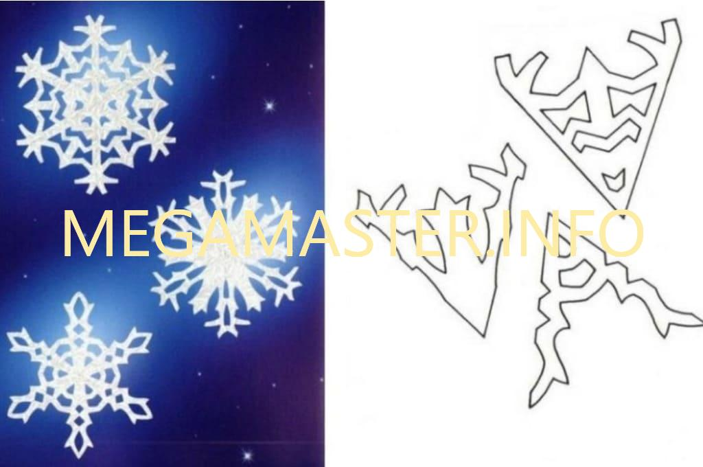 Ажурные сложные снежинки (1)
