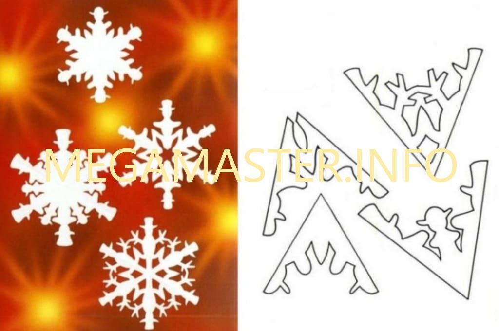 Ажурные сложные снежинки (10)