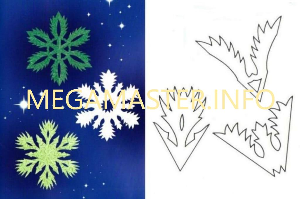 Ажурные сложные снежинки (2)
