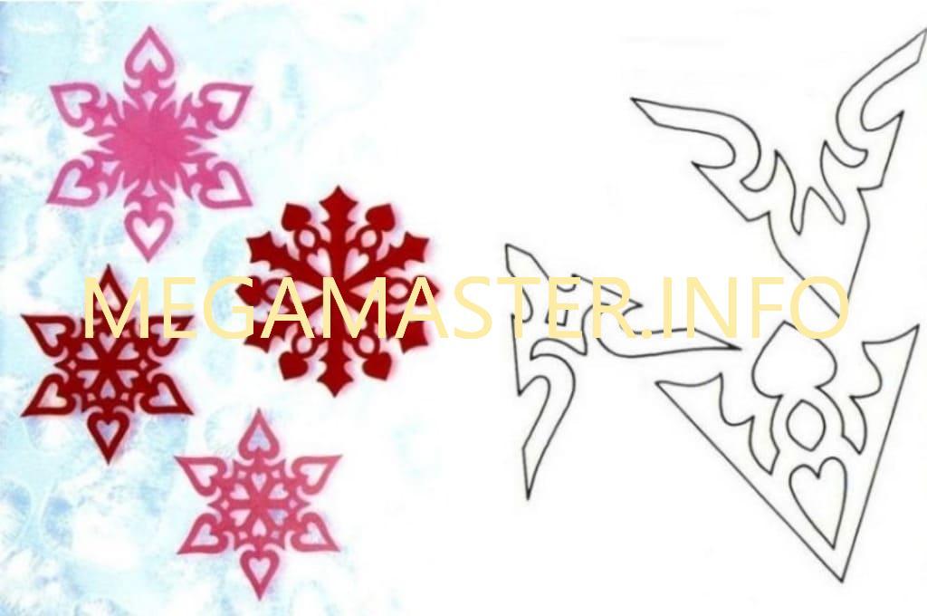 Ажурные сложные снежинки (4)