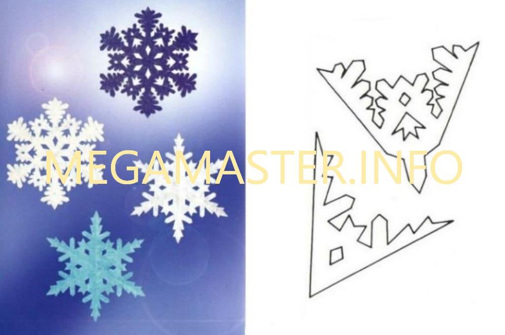 Ажурные сложные снежинки (8)