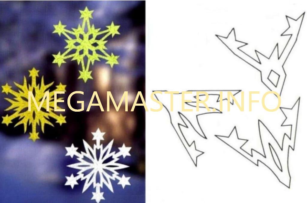 Ажурные сложные снежинки (9)