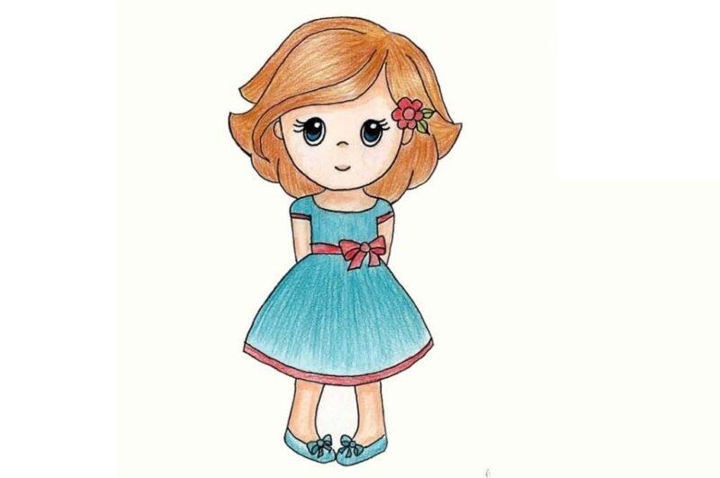 Как нарисовать девочку поэтапно