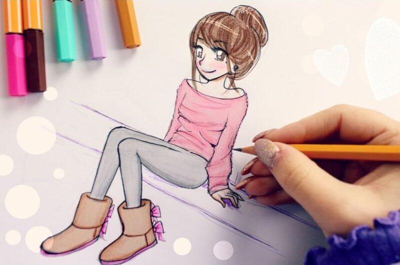 Как нарисовать девушку поэтапно карандашом