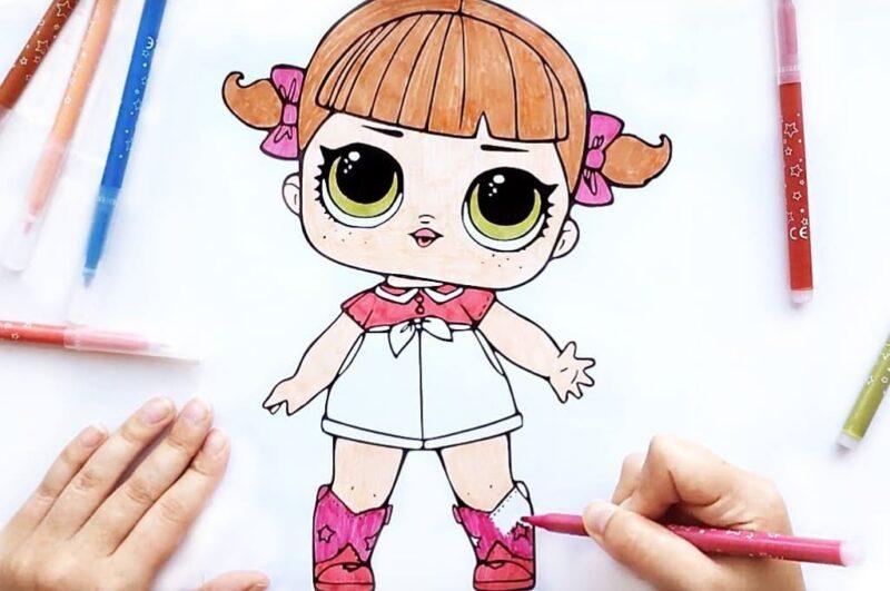 Как нарисовать куклу ЛОЛ поэтапно для начинающих