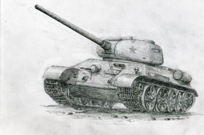 Как нарисовать танк поэтапно для начинающих