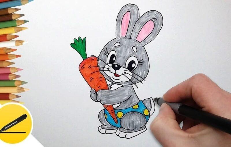 Как нарисовать зайца легко
