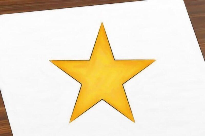 Как нарисовать звезду пятиконечную