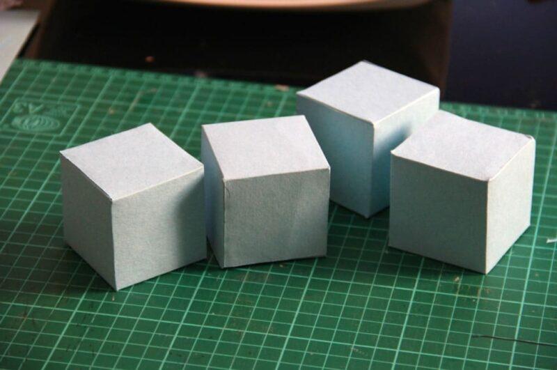 Как сделать куб из картона схемы