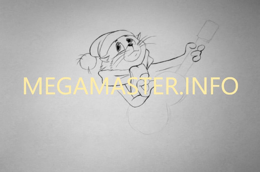 Кот простым карандашом (Шаг 4)