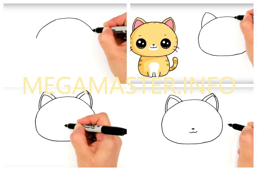 Рисуем кошку за пять минут (Шаг 1)
