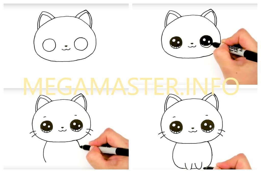 Рисуем кошку за пять минут (Шаг 2)
