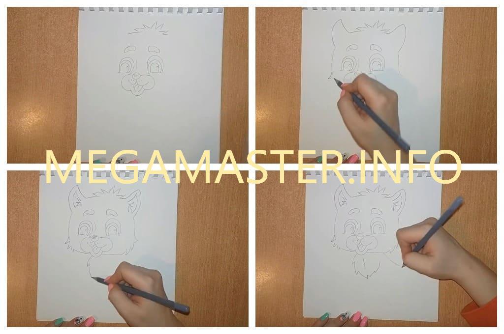 Рисунок цветными карандашами (Шаг 2)