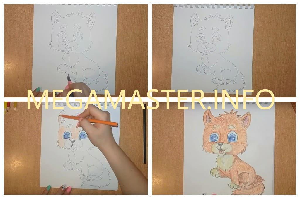 Рисунок цветными карандашами (Шаг 4)