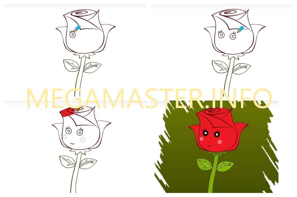Роза для самых маленьких (Шаг 4)
