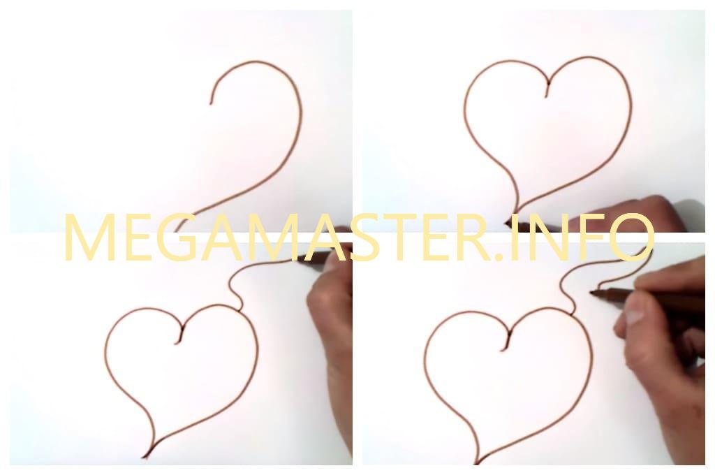 Сердце с крыльями (Шаг 1)