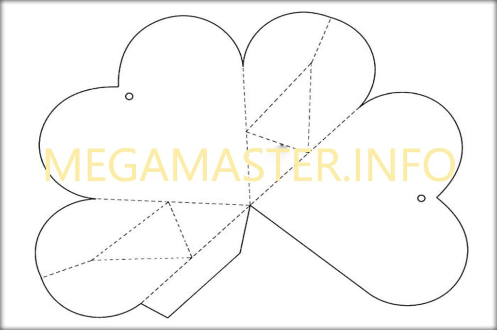 Шаблон для коробки-сердечка