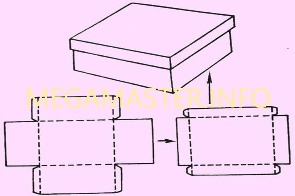 Схема первой коробки со сьемной крышкой