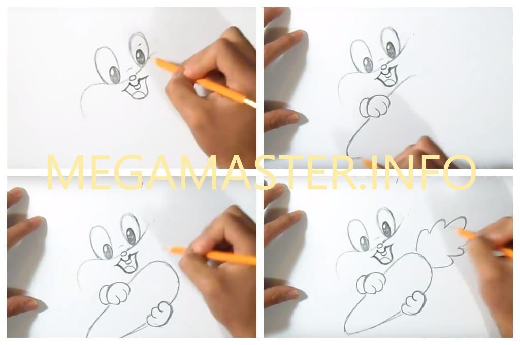 Нарисовать смешного зайца легко
