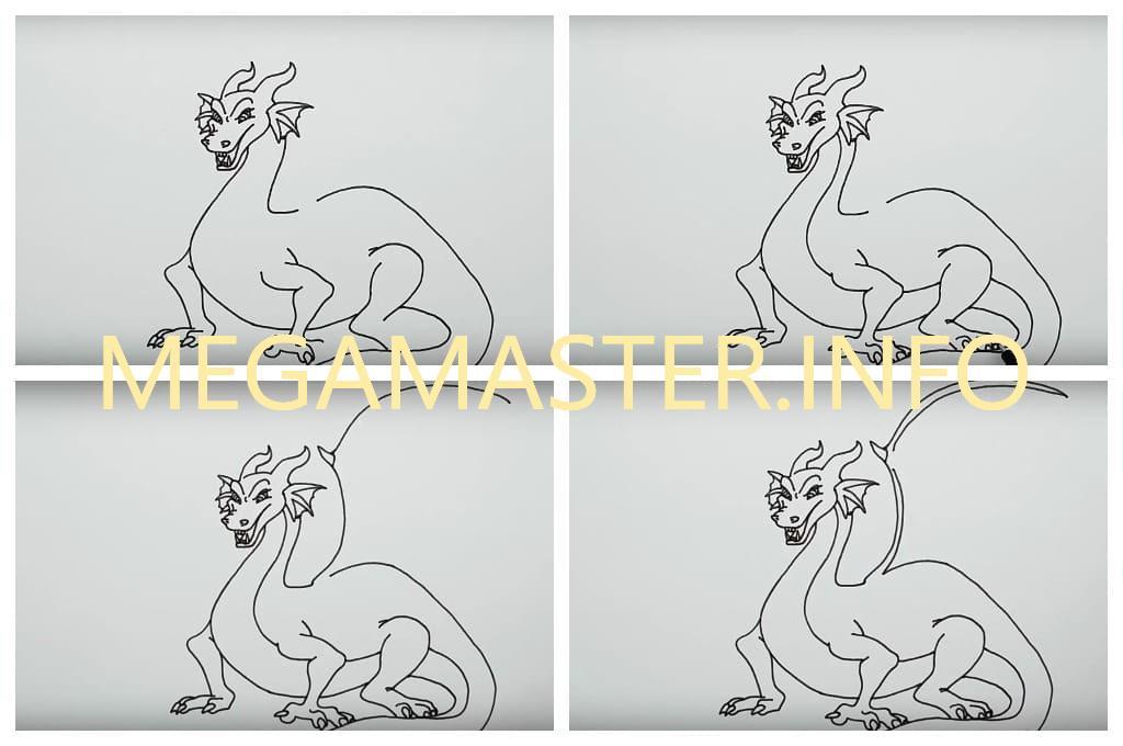 Большой дракон (Шаг 4)