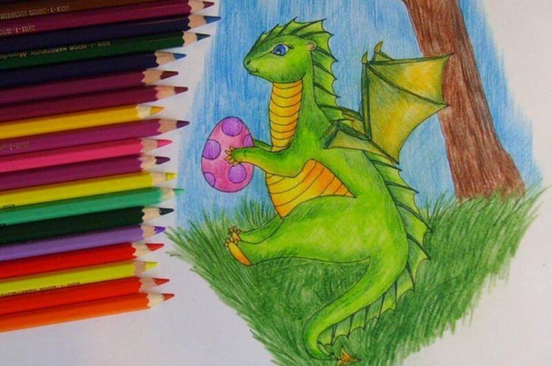 Как нарисовать дракона карандашом поэтапно для начинающих